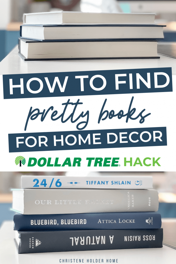 How to Find Pretty Books for Home Decor - Dollar Tree Hack