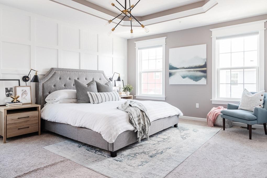 Valspar London Coach paint in master bedroom home