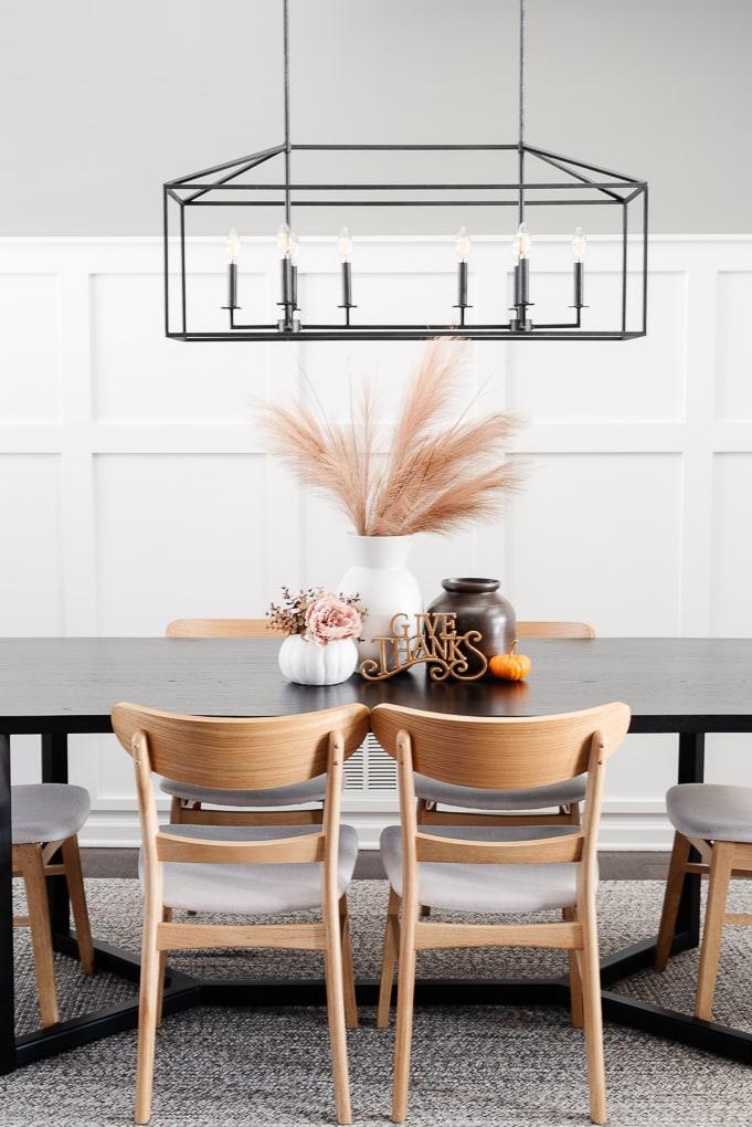 Valspar Hazy Stratus paint in dining room home decor