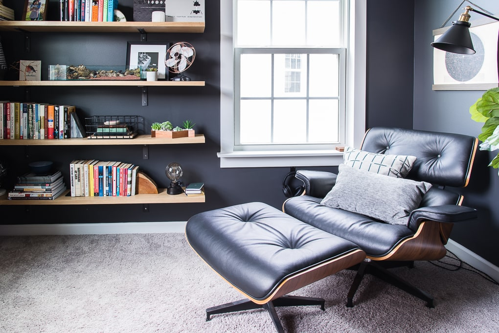Valspar Cracked Pepper Paint in home office home decor
