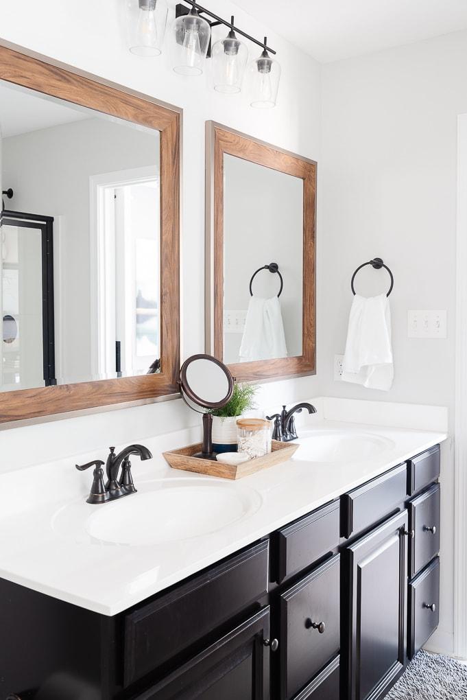 Valspar Tempered Gray paint in bathroom home decor