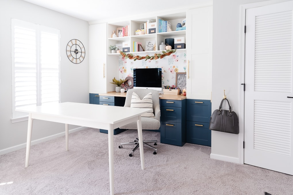 Valspar Tempered Gray paint in home office home decor
