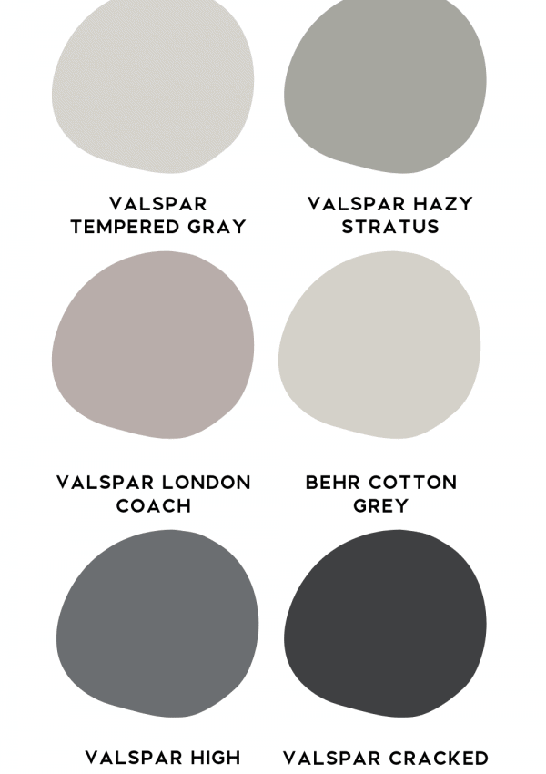 Valspar Hazy Stratus paint in dining room home decor