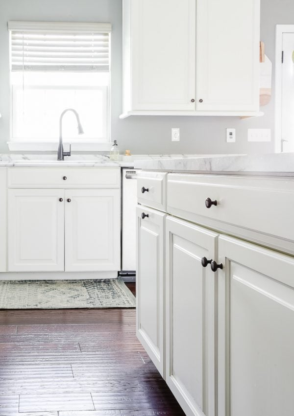 white kitchen cabinets and countertop clean kitchen