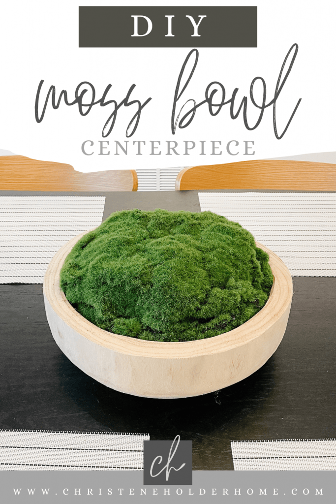 diy moss bowl centerpiece craft project for the home